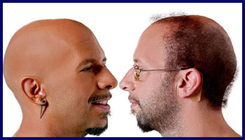 Neil Strauss (before, right) and his alter ego, Style (after, left).