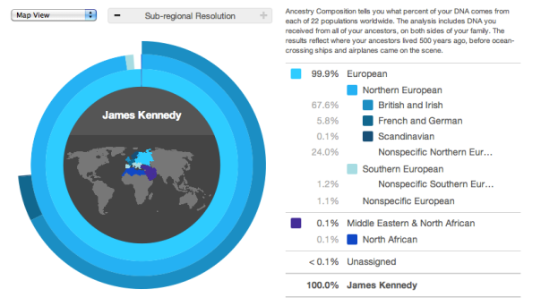 James Kennedy ancestry results