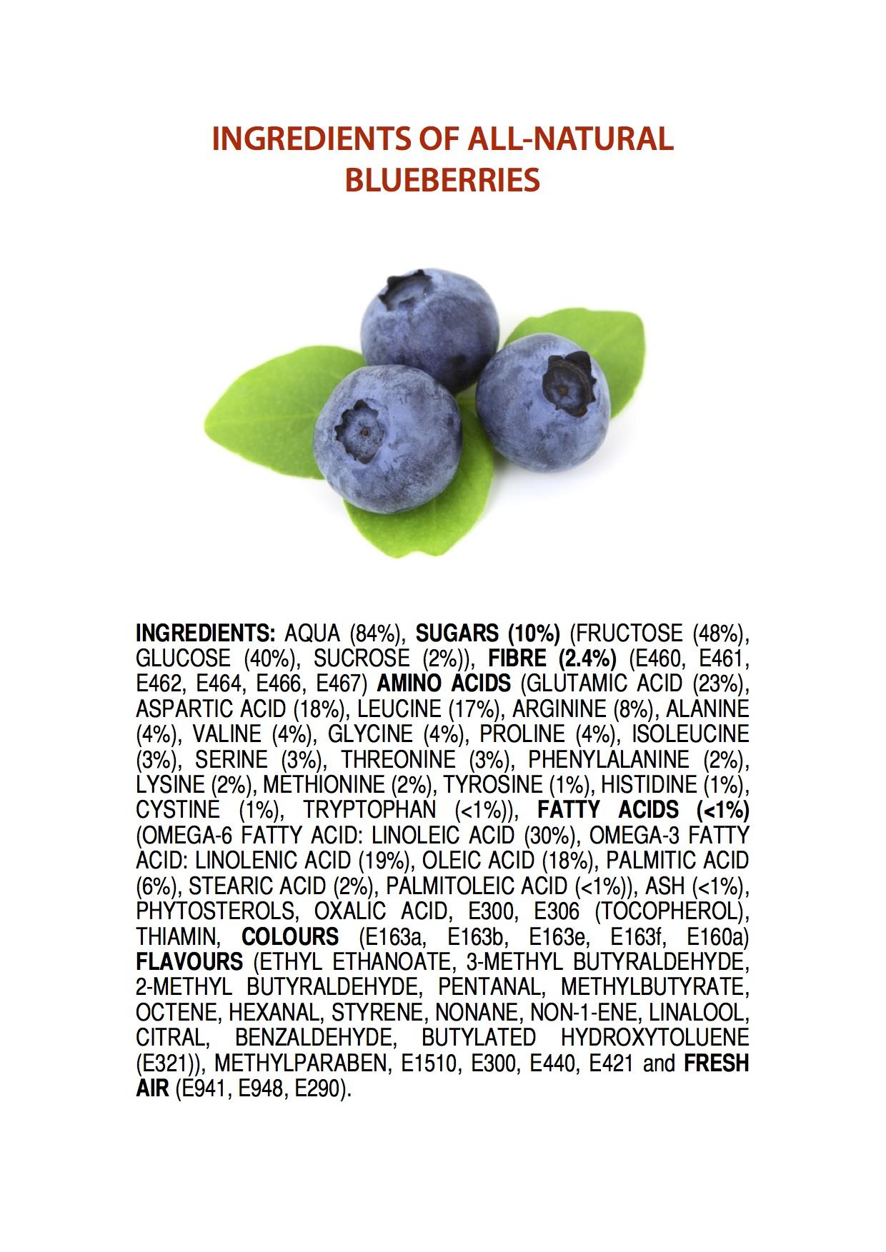 Vad blåbär innehåller.
