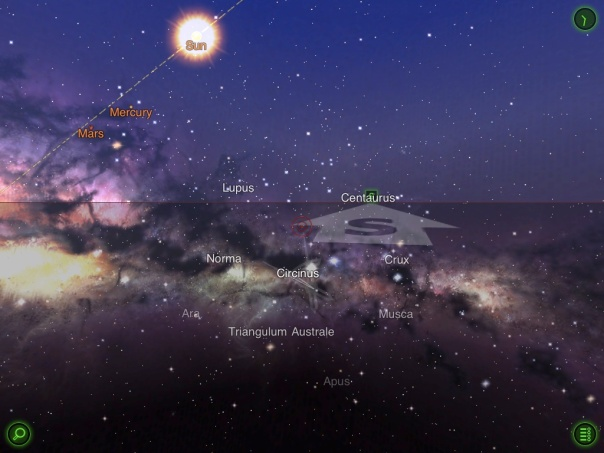 Star Walk app for iPad (screenshot)