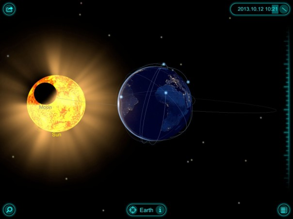 Solar Walk app for iPad (screenshot)