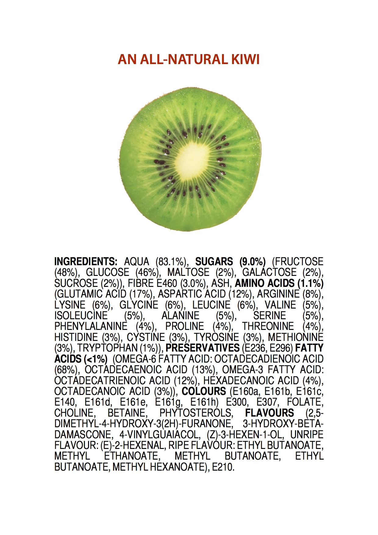 Tout est chimique... Ingredients-of-an-all-natural-kiwi-poster-2