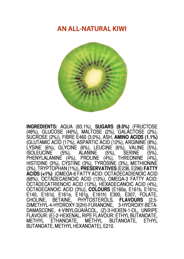 Ingredients of an All-Natural Kiwi POSTER