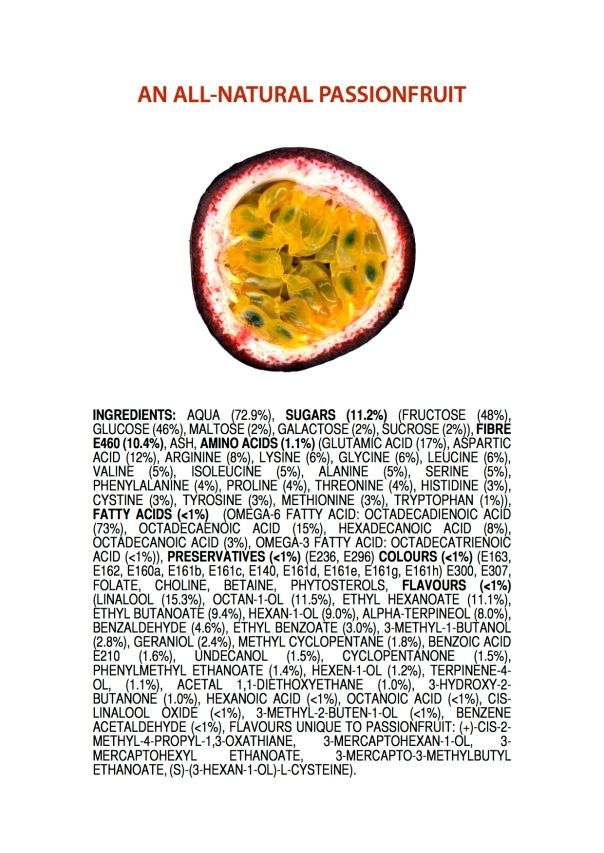 Ingredients of an All-Natural Passionfruit POSTER