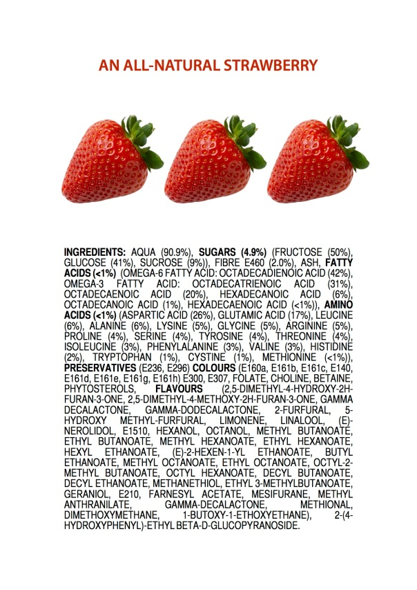 Ingredients of an All-Natural Strawberry ENGLISH jameskennedymonash.wordpress.com