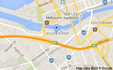 South Wharf Map for An Evening with Bill Nye the Science Guy