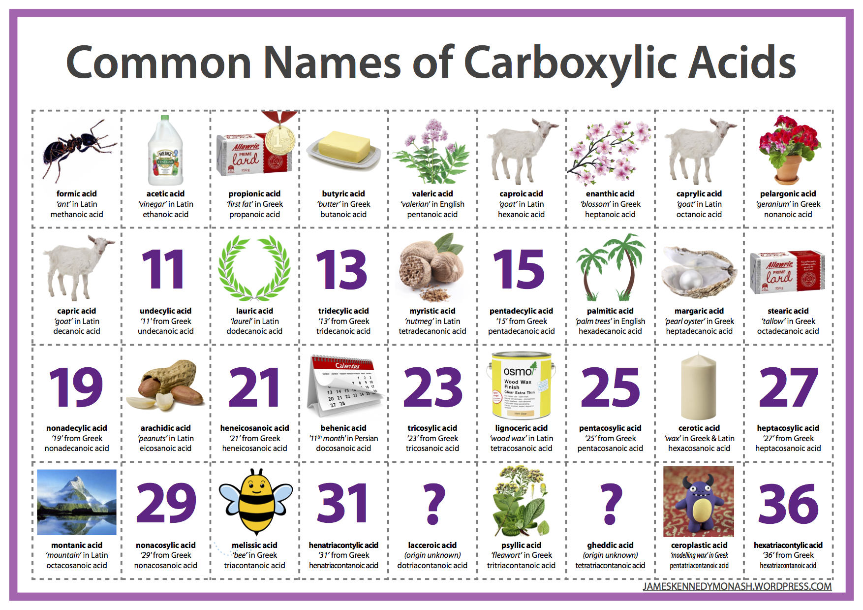 Common names of carboxylic acids james kennedy gamestrikefo Choice Image