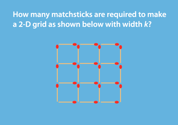 how many matchsticks are required to make a cube