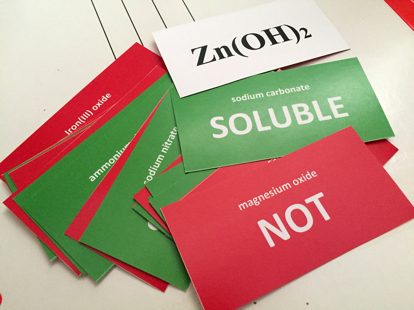 Soluble or Not? Flashcards. Click to buy