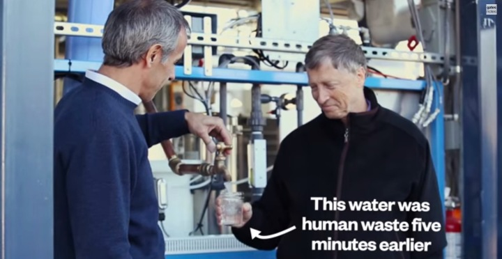 Bill Gates drinks water purified from sewage at Seattle's Omniprocessor plant