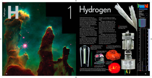 Hydrogen: a page from Theodore Gray's book, The Elements