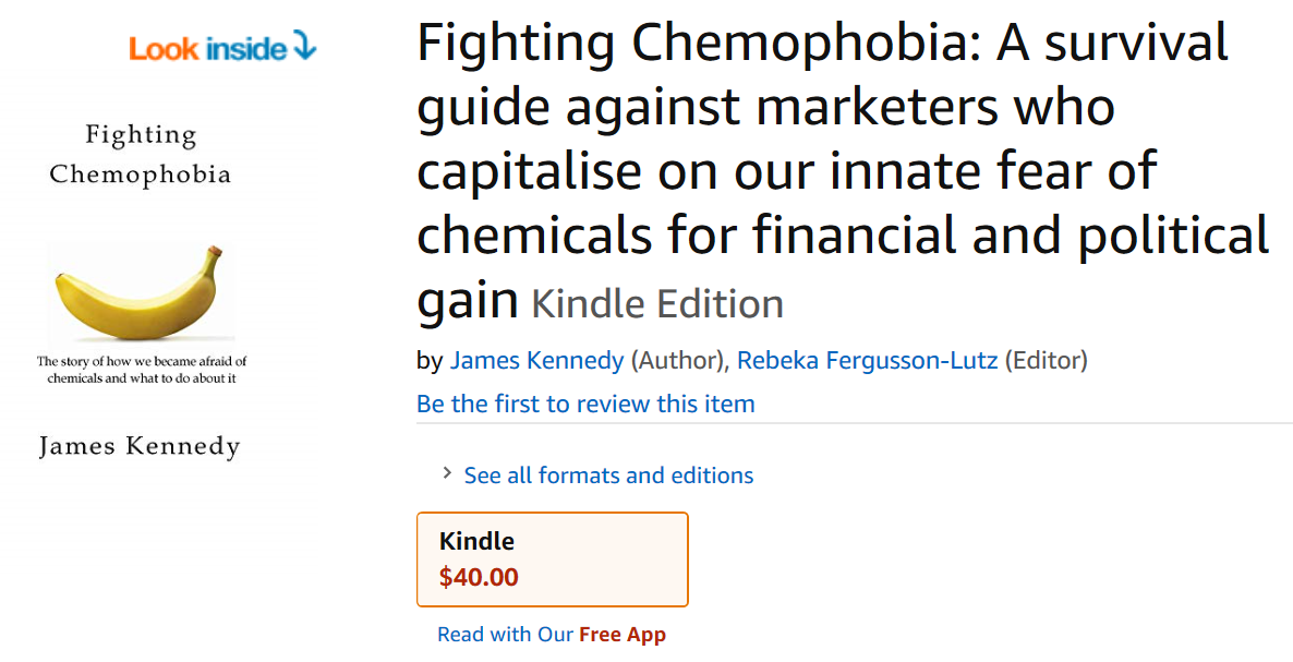 Fighting Chemophobia is now available in the Kindle store!
